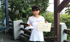 第33回 富士見台テニスクラブ 中学生女子準優勝:斉藤 あゆ選手
