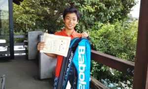 第33回 富士見台テニスクラブ 中学生男子優勝:五反田 光稀選手