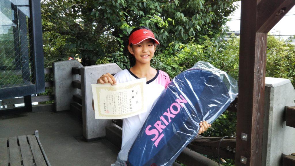 優勝:川島 瑠莉選手