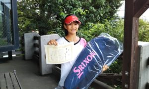 第33回 富士見台テニスクラブ 中学生女子優勝:川島 瑠莉選手