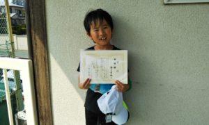 第42回 関町ローンテニスクラブ 小学生10歳以下準優勝:緒方 智映選手