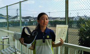 第42回 関町ローンテニスクラブ 小学生12歳以下準優勝:小菅 美緒選手
