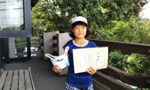 第43回 富士見台テニスクラブ 小学生10歳以下準優勝:熊倉 怜子選手