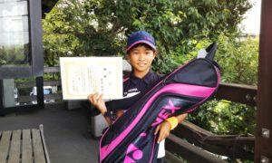 第43回 富士見台テニスクラブ 小学生10歳以下優勝:篠原 結衣選手