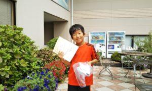 第44回 緑ヶ丘テニスガーデン 小学生10歳以下男子準優勝:中川 蒼太選手