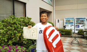 第44回 緑ヶ丘テニスガーデン 小学生10歳以下男子優勝:森 泰世選手