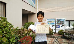第44回 緑ヶ丘テニスガーデン 小学生12歳以下男子準優勝:西澤 諒哉選手