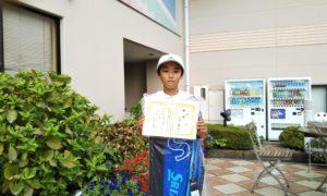 第44回 緑ヶ丘テニスガーデン 小学生12歳以下男子優勝:小泉 蒼太選手