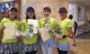 第1456回 緑ヶ丘テニスガーデン 女子チーム戦準優勝:寺谷・新町・池田・宮下チーム
