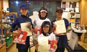 第1482回 緑ヶ丘テニスガーデン 女子チーム戦準優勝:テニスボール4姉妹 チーム