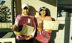 第1483回 関町ローンテニスクラブ 女子ダブルス優勝:玉川・下田ペア