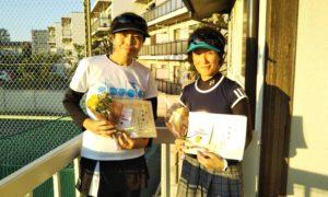 第1494回 東京グリーンテニスクラブ 女子チーム戦準優勝:原田・矢野ペア