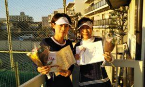 第1494回 東京グリーンテニスクラブ 女子チーム戦優勝:白石・河畑ペア