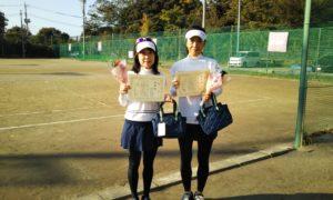 第1495回 関町ローンテニスクラブ 女子ダブルス準優勝:鈴木・山村ペア