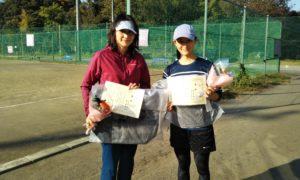 第1495回 関町ローンテニスクラブ 女子ダブルス優勝:松本・橋本ペア