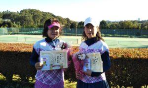 第1487回 百草テニスガーデン 女子ダブルス準優勝:長谷川・桑野ペア
