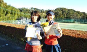 第1487回 百草テニスガーデン 女子ダブルス優勝:大橋・丸茂ペア