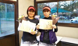 第1488回 桜田倶楽部 女子ダブルス優勝:田嶋・山田ペア