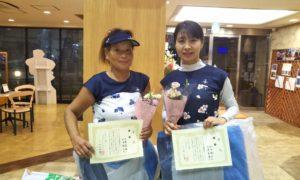 第1490回 緑ヶ丘テニスガーデン 女子ダブルス優勝:大原・和田ペア
