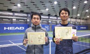 第238回 MTSテニスアリーナ三鷹 ナイター男子ダブルス準優勝:小池・鈴木ペア