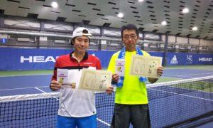 第238回 MTSテニスアリーナ三鷹 ナイター男子ダブルス優勝:櫻井・辻ペア
