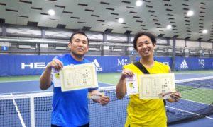 第239回 MTSテニスアリーナ三鷹 ナイター男子ダブルス準優勝:高見・菊川ペア