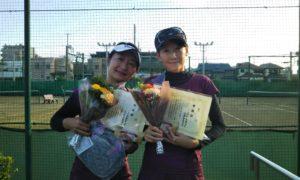 第1472回 東京グリーンテニスクラブ 女子ダブルス準優勝:山岸・森田ペア