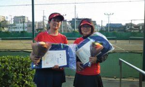 第1472回 東京グリーンテニスクラブ 女子ダブルス優勝:石井・今井ペア