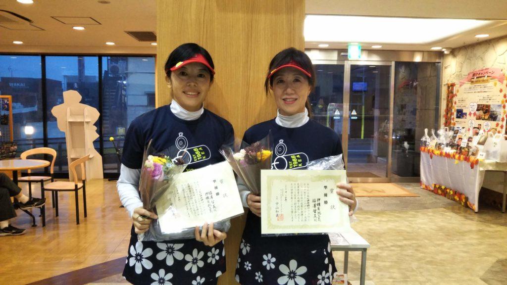 準優勝:福澤・押鐘ペア