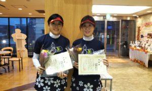 第1474回 緑ヶ丘テニスガーデン 女子ダブルス準優勝:福澤・押鐘ペア
