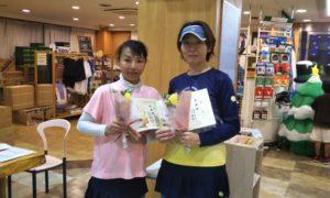 第1497回 緑ヶ丘テニスガーデン 女子ダブルス準優勝:谷口・高井ペア