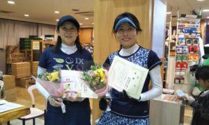 第1497回 緑ヶ丘テニスガーデン 女子ダブルス優勝:湯浅・古澤ペア