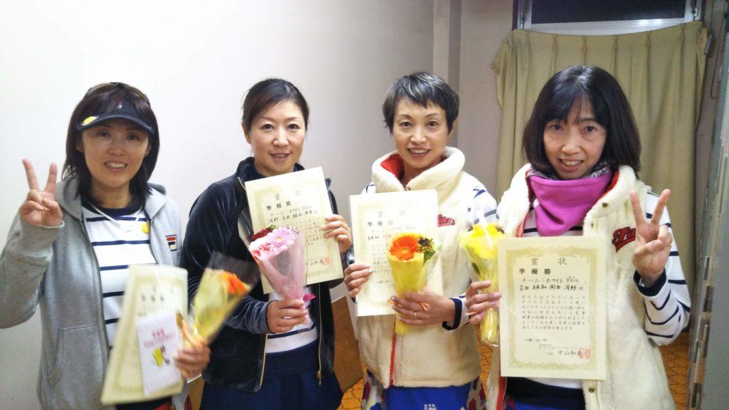 準優勝:岡西・浅野・続麻・吉田チーム