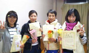 第1499回 百草テニスガーデン 女子チーム戦準優勝:岡西・浅野・続麻・吉田チーム