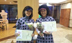 第1500回 緑ヶ丘テニスガーデン 女子ダブルス準優勝:溝口・小田ペア