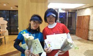 第1500回 緑ヶ丘テニスガーデン 女子ダブルス優勝:中峯・石森ペア