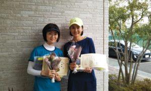 第1501回 東京グリーンテニスクラブ 女子ダブルス準優勝:中野・横川ペア