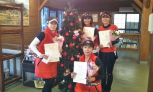 第1502回 富士見台テニスクラブ 女子チーム戦優勝:河畑・原田・松本・髙橋チーム