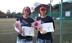 第1504回 桜田倶楽部 女子ダブルス準優勝:田嶋・猪俣ペア