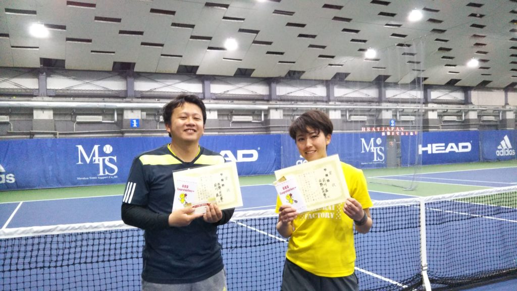 準優勝:佐野・前川ペア