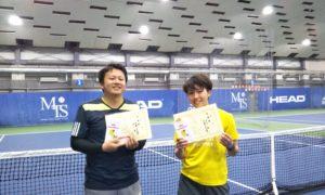第240回 MTSテニスアリーナ三鷹 ナイターミックスダブルス準優勝:佐野・前川ペア