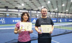 第240回 MTSテニスアリーナ三鷹 ナイターミックスダブルス優勝:丹野・戸田ペア