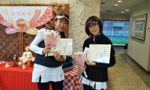 第1506回 緑ヶ丘テニスガーデン 女子ダブルス準優勝:深作・沢登ペア