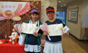 第1506回 緑ヶ丘テニスガーデン 女子ダブルス優勝:桑田・高辻ペア