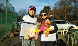 第1507回 桜田倶楽部 女子ダブルス準優勝:内田・田辺ペア