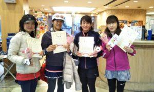 第1508回 緑ヶ丘テニスガーデン 女子チーム戦準優勝:永井・吉岡・村井・水谷チーム