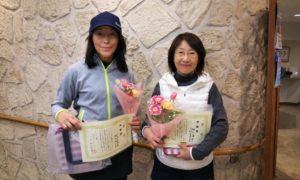 第1510回 緑ヶ丘テニスガーデン 女子ダブルス準優勝:下村・柚木ペア