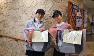第1510回 緑ヶ丘テニスガーデン 女子ダブルス優勝:市川・郭ペア