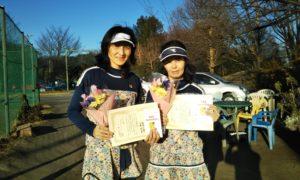 第1515回 桜田倶楽部 女子ダブルス準優勝:松本・元木ペア