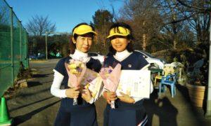 第1515回 桜田倶楽部 女子ダブルス優勝:磯貝・藤井ペア